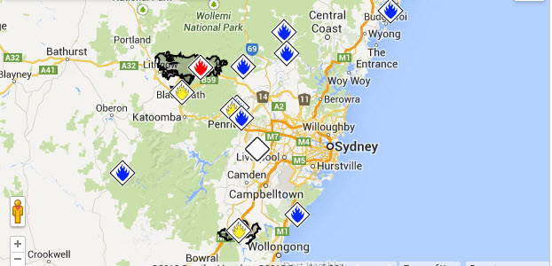 nsw fires map - photo #15