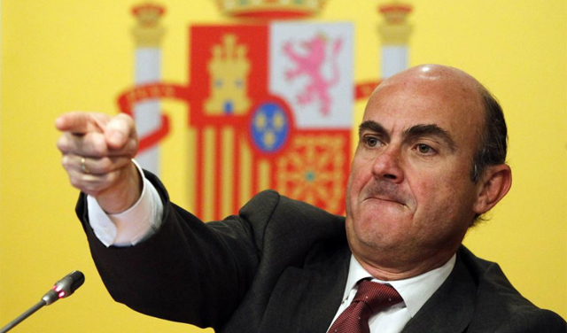 Spain's de Guindos making a point