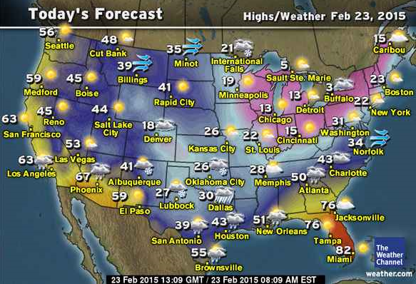 Watch The Weather Forecast - The us weather map
