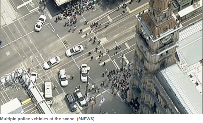 Auto  ploughs into pedestrians in Australia, shots reported (Update 1)
