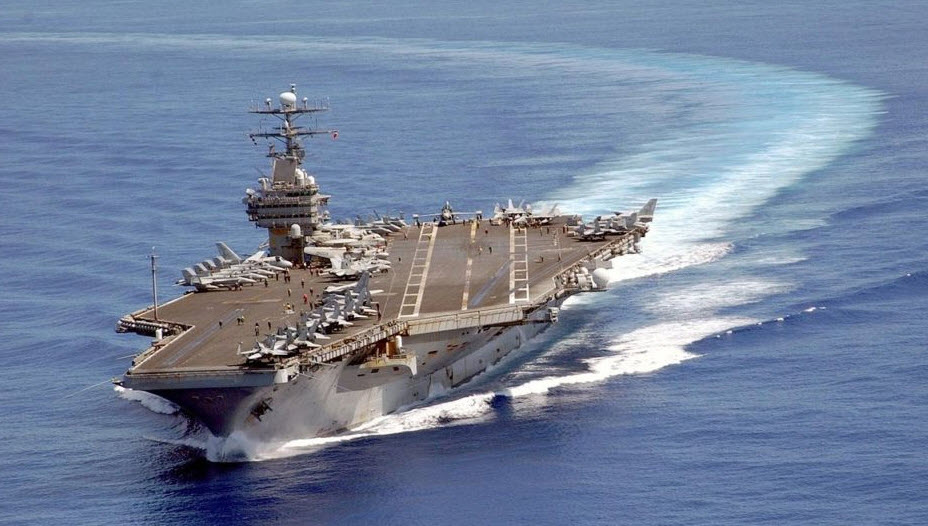 USA  carrier heading toward Korean Peninsula