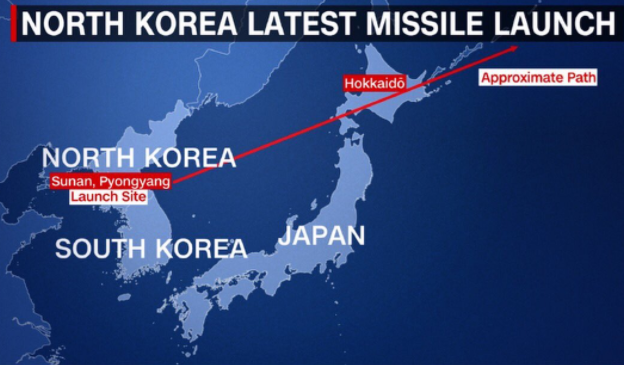 North Korea Japan Missile