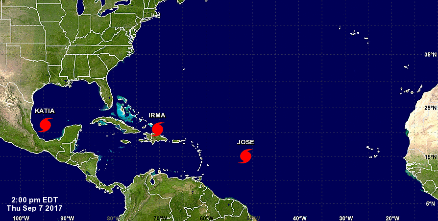 Tropical Storm Jose expected to become hurricane late Wednesday