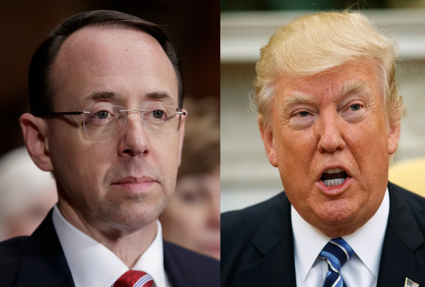 Rod Rosenstein denies voicing plot to take away Trump