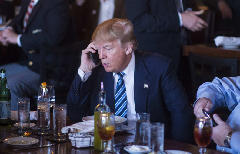 Trump denies Chinese, Russians are listening in on his phone calls