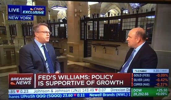 NY Fed's Williams says economy, monetary policy in a good place