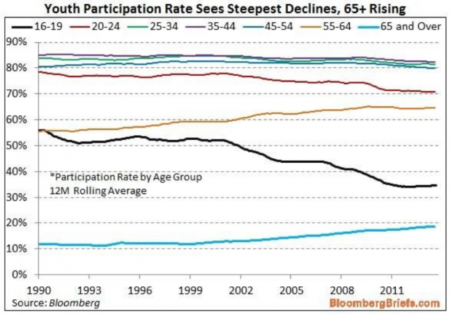 participation rate by age