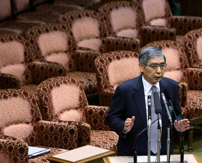 Bank of Japan Governor Kuroda is to appear in the Japanese parliament today