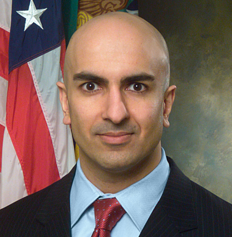 Neel Kashkari, President of the FederalReserve's Minneapolis branch isspeaking. Its a 'town hall' event, Q&A withthe audience.