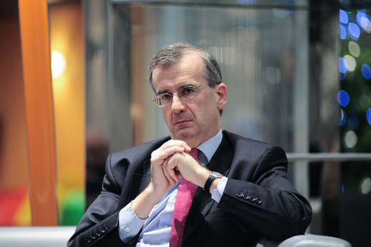 Governor of the Banque de France Villeroy de Galhau speaking with French media - Le Figaro