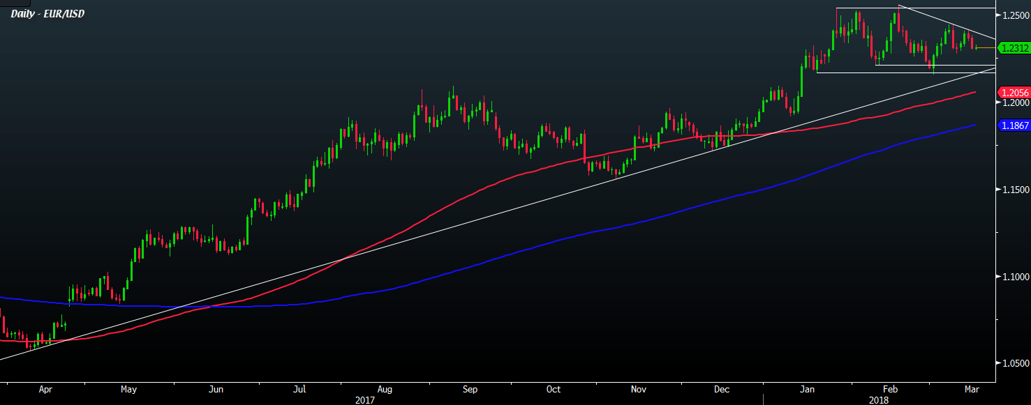 EUR/USD continues to hug the 1 2300 handle