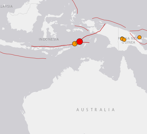 Magnitude 6.4 natural disaster hits waters off Indonesia