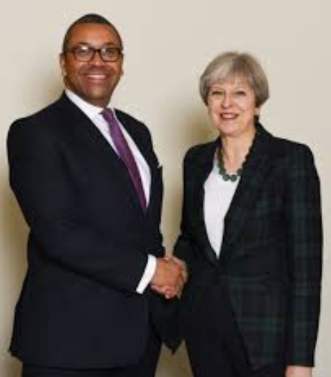 Deputy chairman of the UK Conservative Party James Cleverly, speaking with the BBC