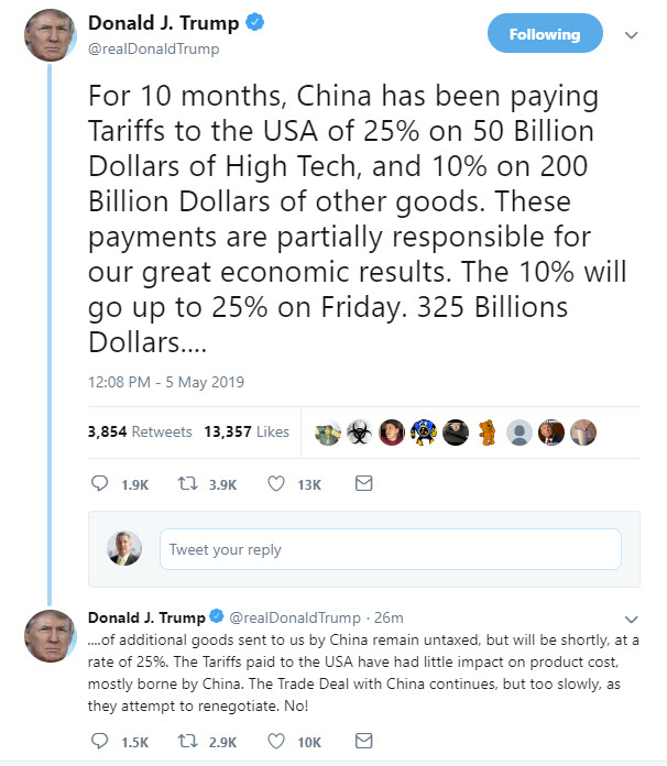 Tariffs on $200B will go from 10% to 25%