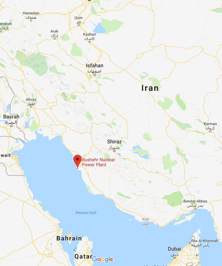 There are reports an explosion has been heard near the Bushehr nuclearplant in Iran.