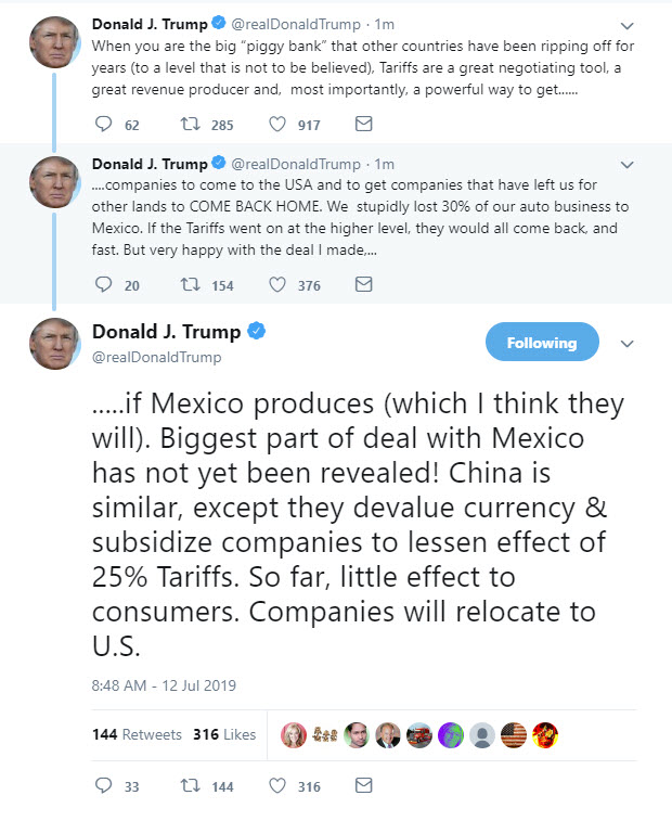 Tariffs and Mexico and China