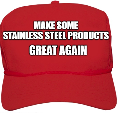 Anti dumping tariffs to be imposed onsome stainless steel products.