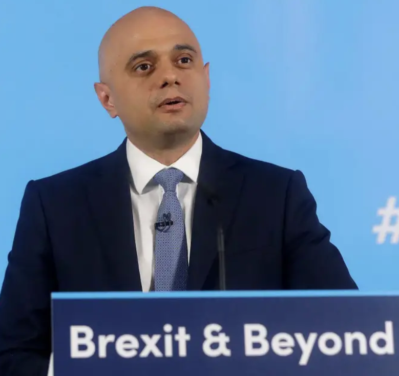 UK Chancellor of the Exchequer Sajid Javid