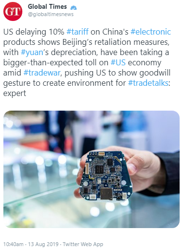 China has its spin working