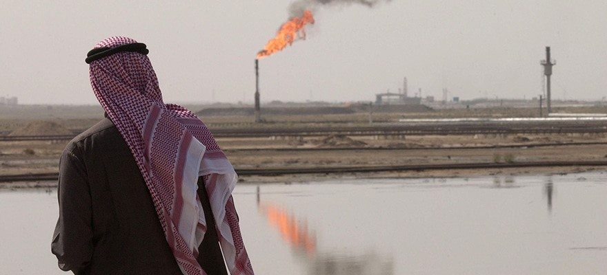 oil flare middle east