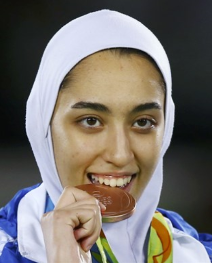 """Kimia Alizadeh issued a statement, accusing the government of Iran of """"hypocrisy,"""" """"injustice"""" and oppressing women while using them as political tools."""