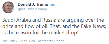 Tweet from the President