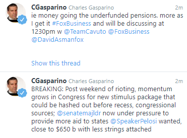Report from Fox Business' Charlie Gasparino