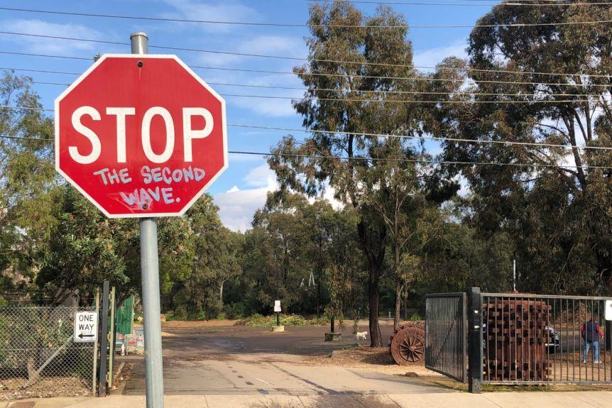 Australia coronavirus sign