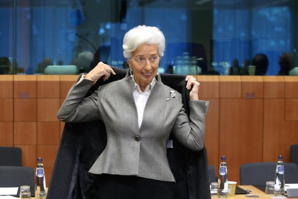 European Central Bank President Christine Lagarde speaking on ECB policy on Sunday.