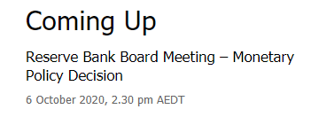 Reserve Bank of Australia opinions flying about, these from earlier: