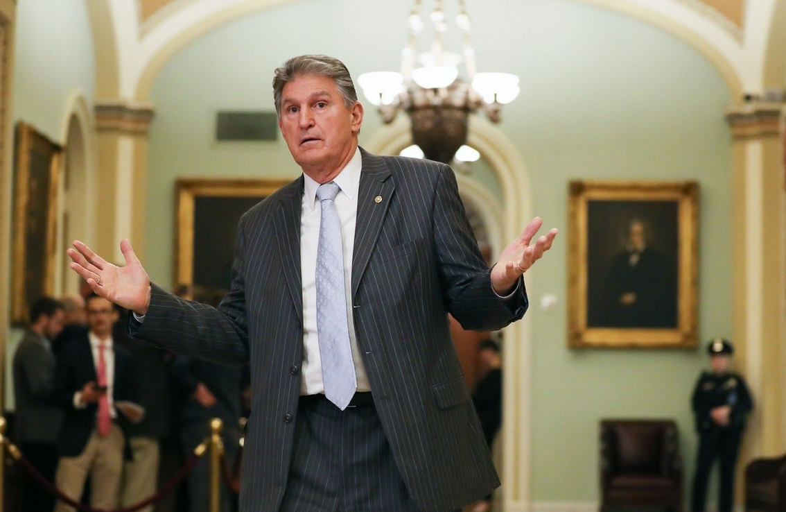 Manchin says he won't support it