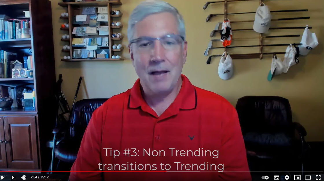 Non trending transitions to trending.