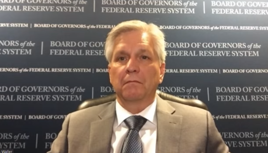 Waller joined the Fed in December