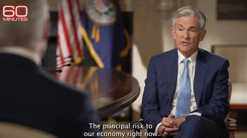 Further headlines are crossing from Federal Reserve Chair Powell interview on US TV show 60 Minutes
