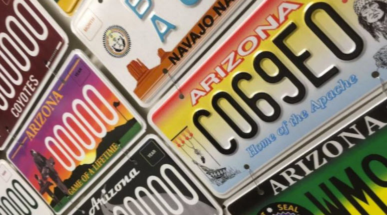 No new license plates beingproduced in Arizona