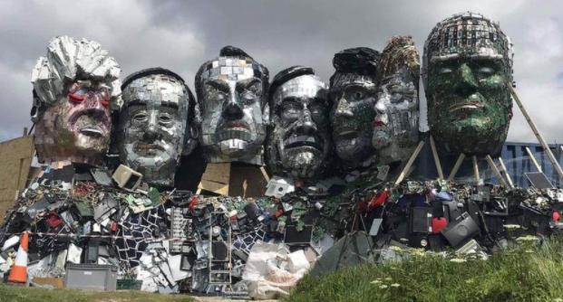 E-waste sculpture