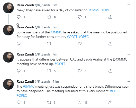 Tweet from Reza Zandi