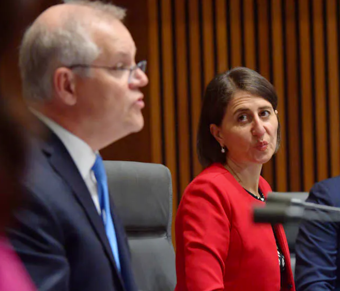 Australian Prime Minister Scott Morrison relies on votes from his party's coalition partner to hold onto power.