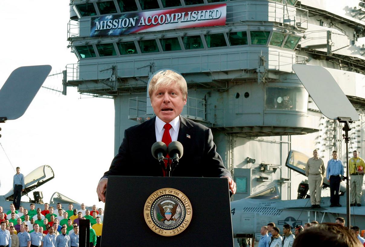 Boris Johnson meme mission accomplished
