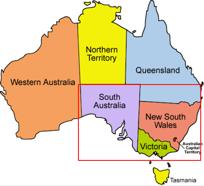 South Australia is the smallest (population) state of the three in lockdown in Australia.