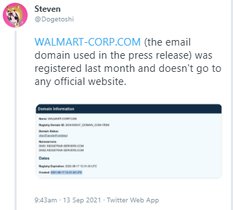 Wal-Mart confirms that someone spoofed the newswire