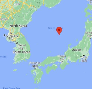 East Sea ... AKA Sea of Japan: