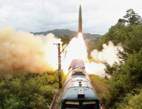 NK says its railway-borne missile system is an efficient counter-strike weapon.