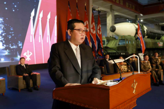 Says will continue to strengthen NK military power.